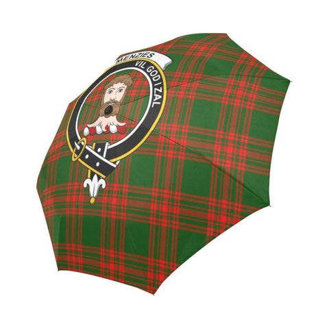 Image of Menzies Green Modern Clan Badge Tartan Umbrella Auto-Foldable  Th8