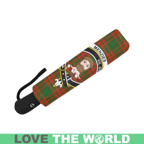 Menzies Green Modern Clan Badge Tartan Umbrella Auto-Foldable  Th8
