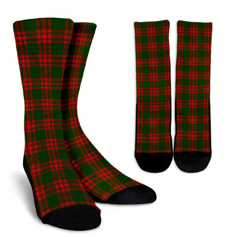 Menzies Green Modern Tartan Crews Socks