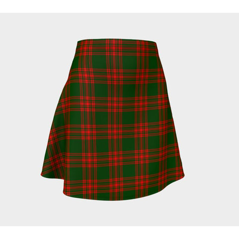 Tartan Skirt - Menzies Green Modern Women Flared Skirt A9 |Clothing| 1sttheworld