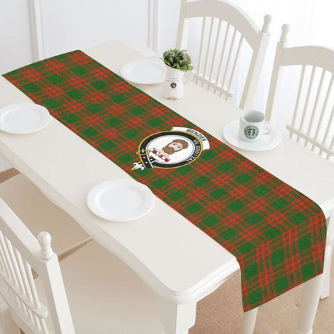 Menzies Green Modern Tartan Table Runner - Tn Runners