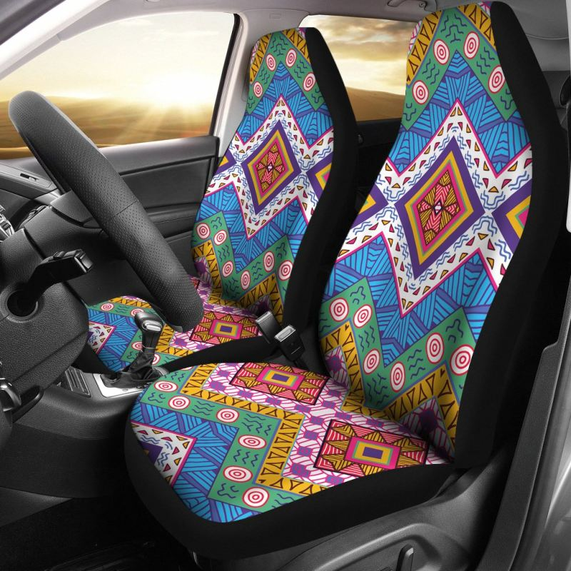 Mexico Aztec Pattern 05 Car Seat Cover
