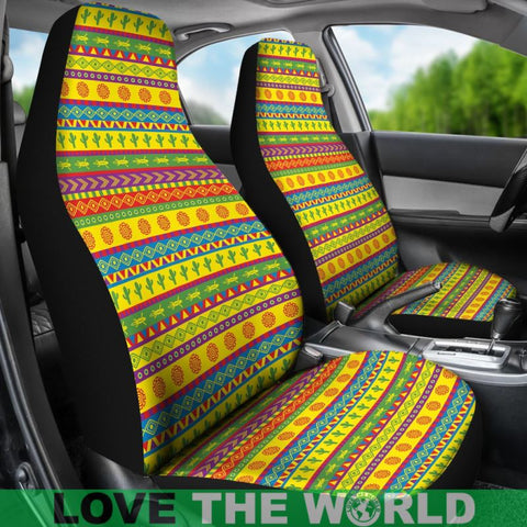 Image Of Mexico Aztec Pattern 08 Car Seat Cover