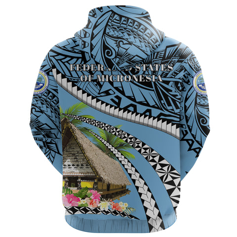 Federated States of Micronesia Meeting House Zip Up Hoodie - Road to Hometown K8