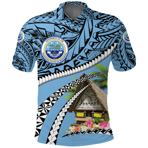 Image of Federated States of Micronesia Meeting House Polo Shirt - Road to Hometown K8