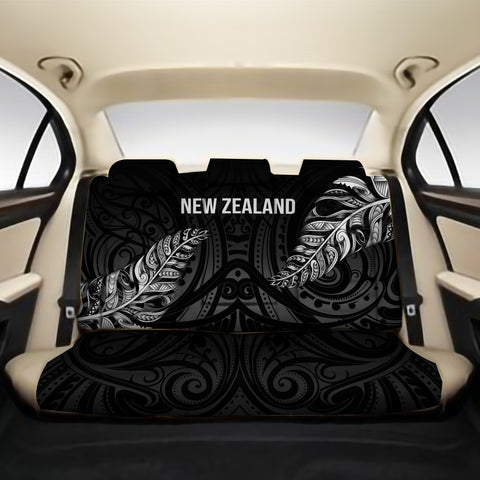 1stTheWorld Custom Aotearoa New Zealand - Maori Silver Fern Back Car Seat Black A10