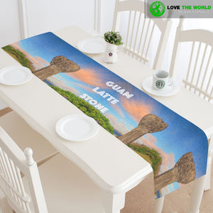 Guam table runner - Guam latte stone (2 sizes)