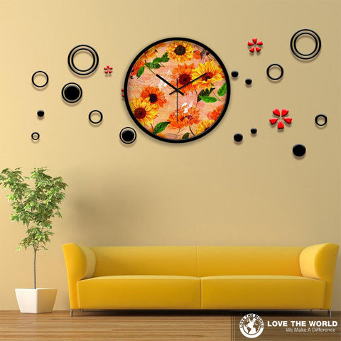 Sunflower Wall Clock NN9