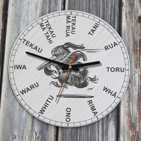 Kiwi Rugby Wooden Wall Clock - NN1