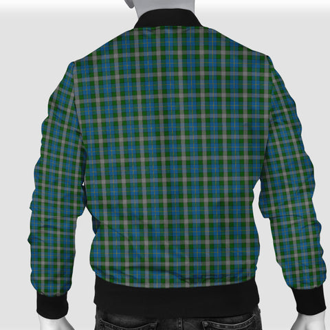 Image of Scotland Tartan Men Bomber Jacket Green A10