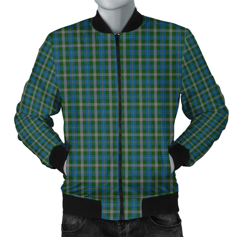 Scotland Tartan Men Bomber Jacket Green A10