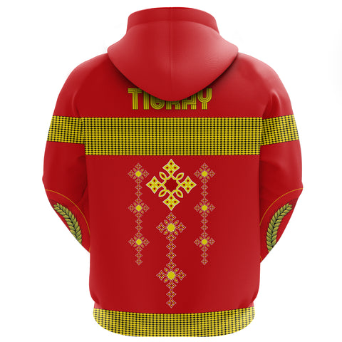1stTheWorld Tigray All Over Hoodie, Tigray Round Pattern Flag A10