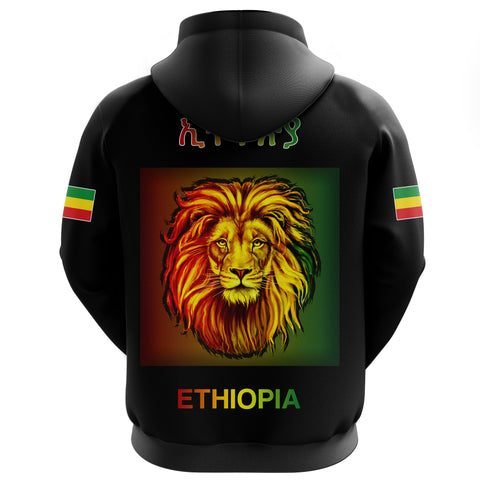 Image of 1stTheWorld Ethiopia Hoodie Reggae and Rastafarian Quotes Black A10