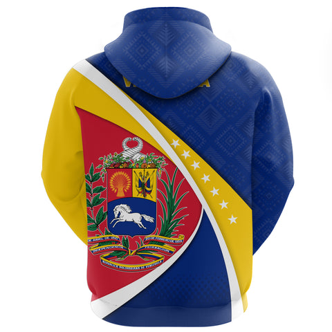 1stTheWorld Venezuela Hoodie, Venezuela Coat Of Arms Pattern A10