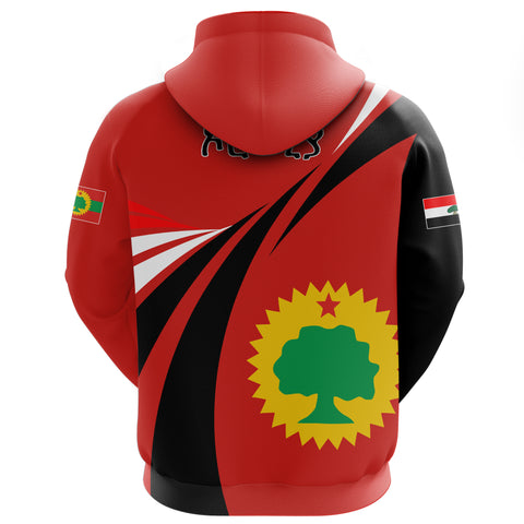 1stTheWorld Oromia Hoodie Zipper, Oromia Swirly Lion Flag A10