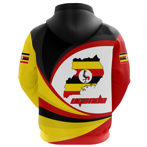 Image of 1stTheWorld Uganda Hoodie Zipper, Uganda Strong Flag A10
