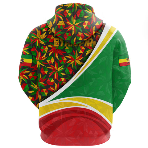 Image of 1stTheWorld Ethiopia Hoodie, Ethiopia Lion Of Judah Flag Rasta A10