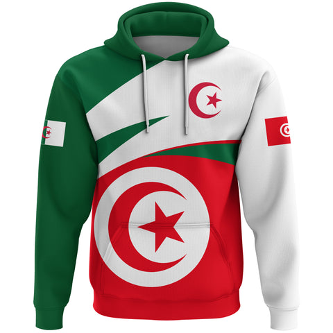 Image of 1stTheWorld Algeria - Tunisia Hoodie Active Flag A10
