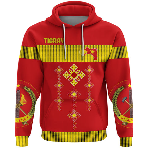 Image of 1stTheWorld Tigray All Over Hoodie, Tigray Round Pattern Flag A10
