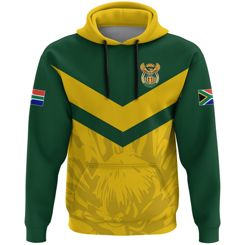 Image of 1stTheWorld South Africa Hoodie - South African Rising King Protea Yellow A10