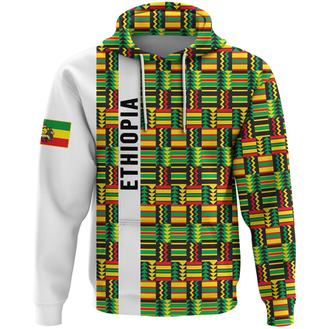 Image of 1stTheWorld Ethiopia Hoodie, Ethiopia Stripe African Pattern A10