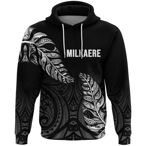 Image of 1stTheWorld Custom Aotearoa New Zealand - Maori Silver Fern Hoodie Black A10