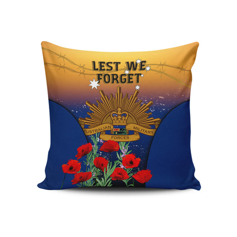 Australia Anzac Day Pillow Case, Anzac Lest We Forget Poppy Rosemary A02
