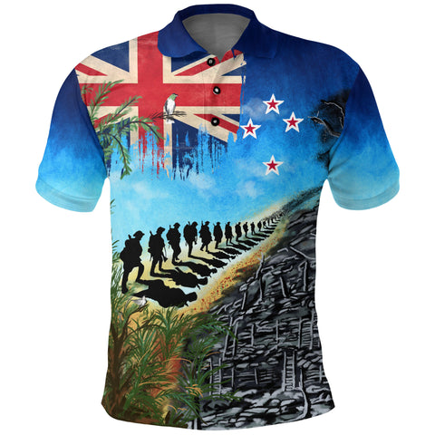 Image of New Zealand Anzac Day Polo Shirt, New Zealand Lest We Forget | 1sttheworld