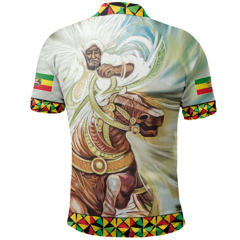 Image of Ethiopian Polo Shirt, Proud Ethiopian Flag A10