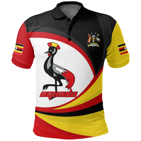 Image of 1stTheWorld Uganda Polo Shirt, Uganda Strong Flag A10