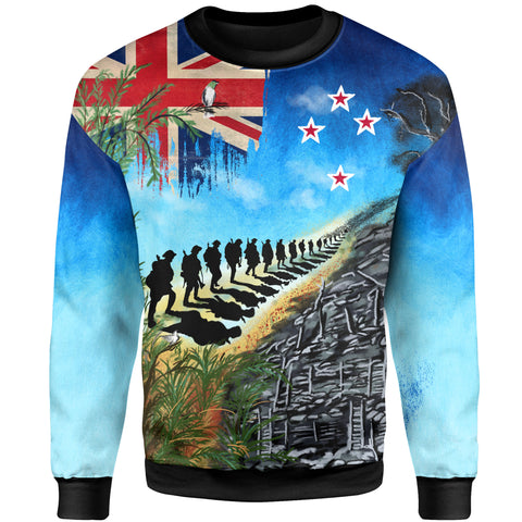 Image of New Zealand Anzac Day Sweatshirt, New Zealand Lest We Forget | 1sttheworld