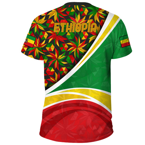 1stTheWorld Ethiopia T-shirt, Ethiopia Lion Of Judah Flag Rasta A10