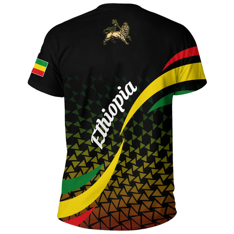 Image of 1stTheWorld Ethiopia T-shirt, Ethiopia Rasta Lion Black A10