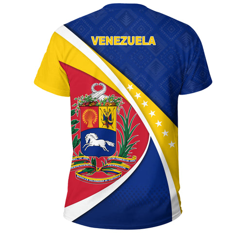 Image of 1stTheWorld Venezuela T-shirt, Venezuela Coat Of Arms Pattern A10