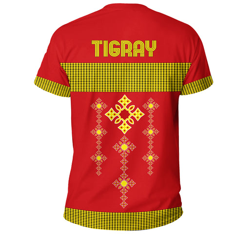 Image of 1stTheWorld Tigray T-shirt, Tigray Round Pattern Flag A10