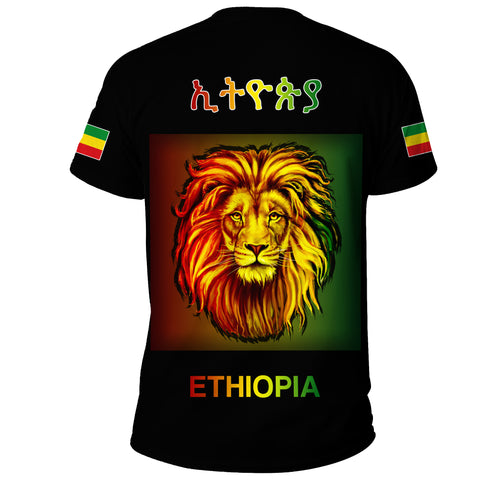 Image of 1stTheWorld Ethiopia T-shirt Reggae and Rastafarian Quotes Black A10