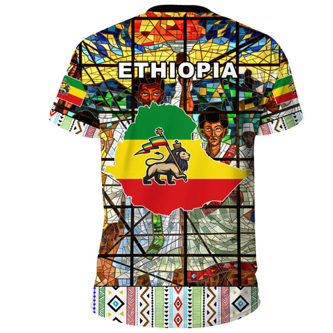 Ethiopia T-Shirt, Ethiopian Orthodox Flag No Coat Of Arms A10