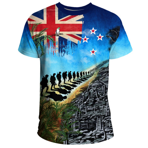 Image of New Zealand Anzac Day T-shirt, New Zealand Lest We Forget | 1sttheworld