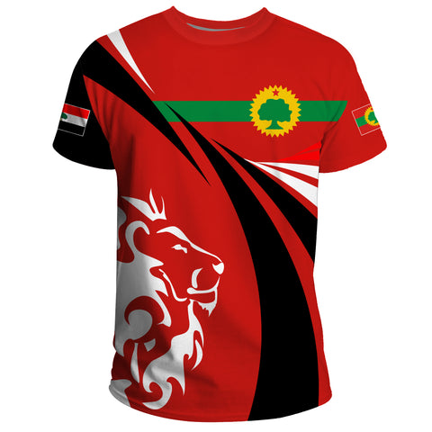 1stTheWorld Oromia T-shirt, Oromia Swirly Lion Flag A10