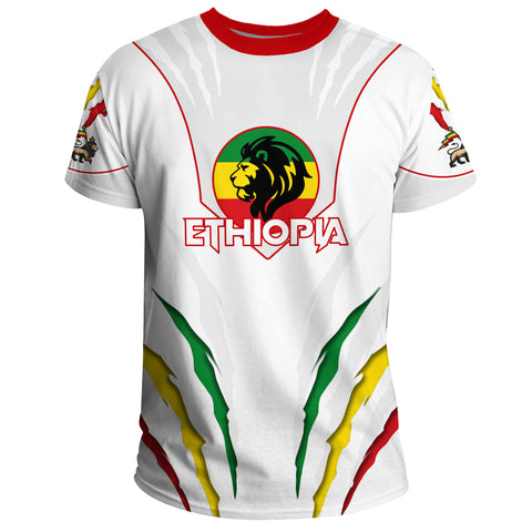 Image of 1stTheWorld Ethiopia T-shirt, Ethiopia Lion Scratch A10