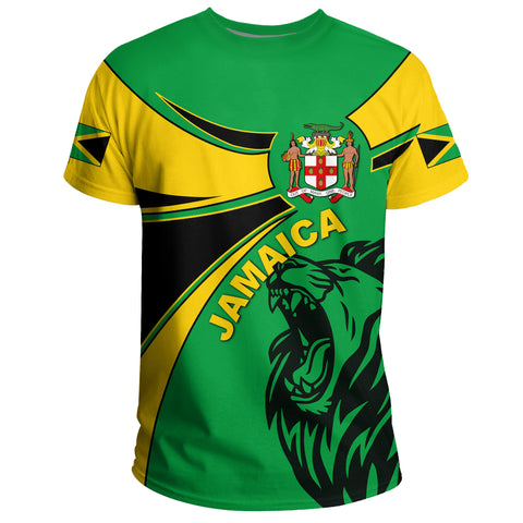 Image of Jamaica T-shirt, Jamaica Round Coat Of Arms Lion A10