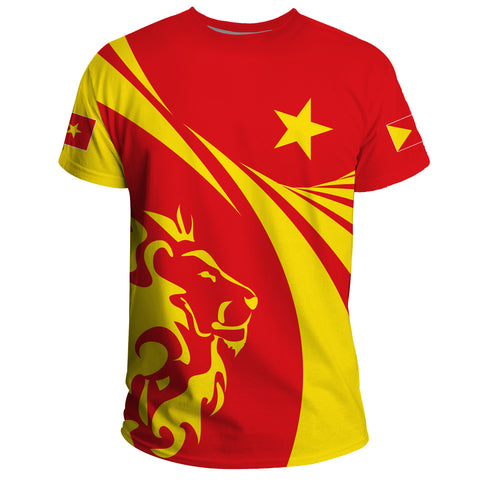 1stTheWorld Tigray T-shirt, Tigray Swirly Lion Flag A10