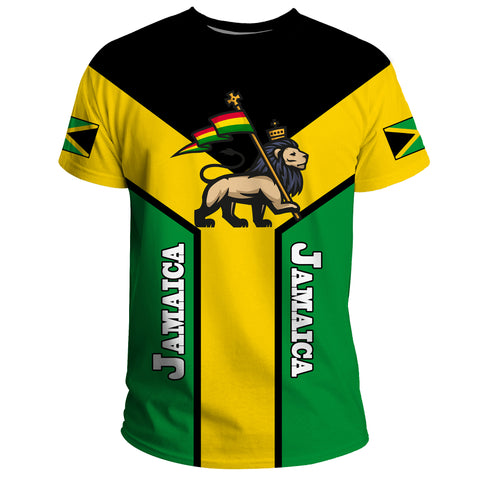 Image of Jamaica T-Shirt, Jamaica Rasta Rising Flag A10