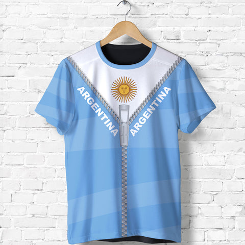 Argentina T Shirt With Straight Zipper Style