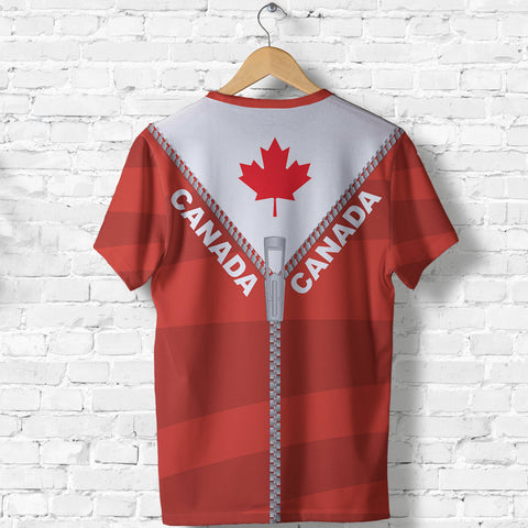 Canada T Shirt With Straight Zipper Style Red K52