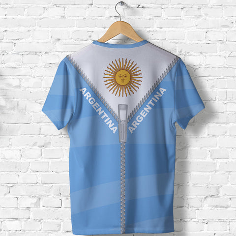 Argentina T Shirt With Straight Zipper Style K52