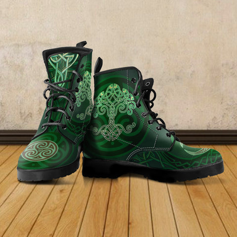 celtic boot, celtic tree boot, tree of life boot, celtic leather boot, celtic tree leather boot