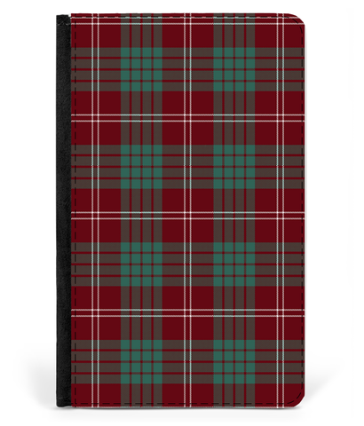 Crawford Modern Tartan Leather Passport Case K5