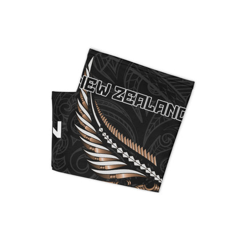 Image of New Zealand Bandana, New Zealand Polinesian Maori silver fern A10