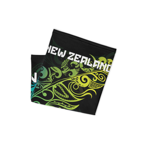 New Zealand Bandana, New Zealand Polinesian Maori Colored Light Fern A10
